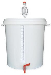 BREWFERM Fermentation Bucket 30 Litres Graduated With Airlock, Tap And Bottle Filling Stick